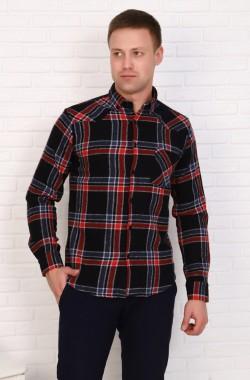 Рубашка мужская  1086  (красный)
