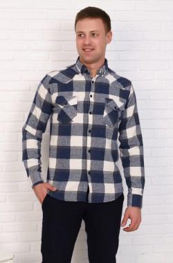 Рубашка мужская   1087  (синий)