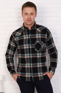Рубашка мужская  1086  (зеленый)