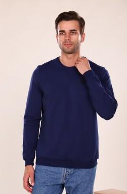 Свитшот мужской с вышивкой 3033  (синий)